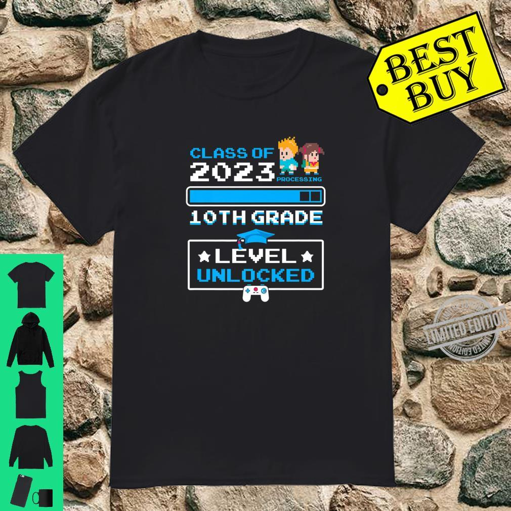 10th Grade First Day Of School Class Of 2023 Cute Video Game Shirt