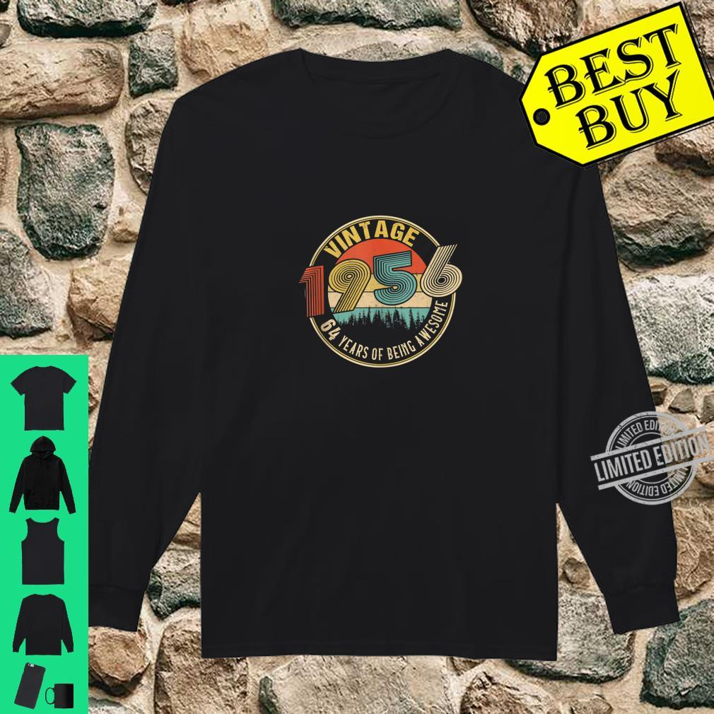 64 Years Old Born in 1956 Vintage 64th Birthday Shirt long sleeved