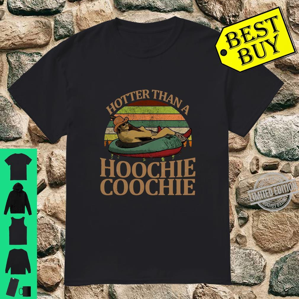 Alan Jackson hotter than a hoochie coochie vintage sunset shirt