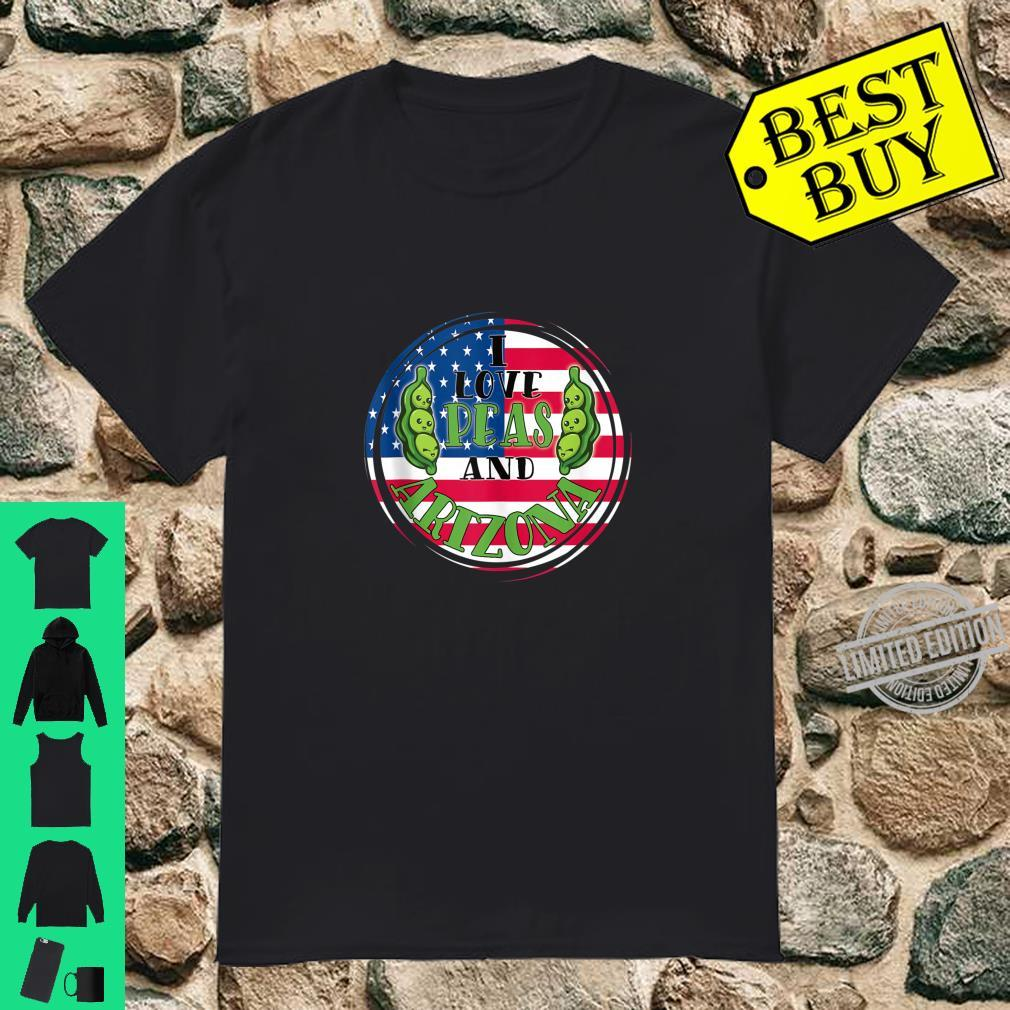 Arizona Patriotic American Flag Peas Shirt
