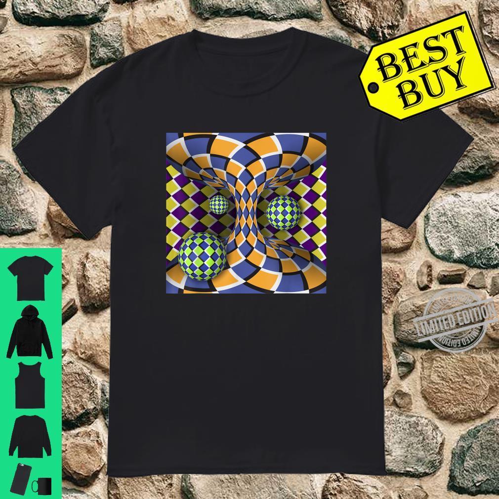 Auffällige Optische Täuschung mit Bewegung Geometrische Form Shirt