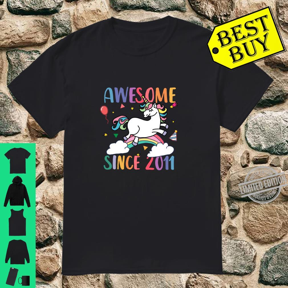 Awesome 9 Years Old 9th Birthday Unicorn Party 2020 Shirt