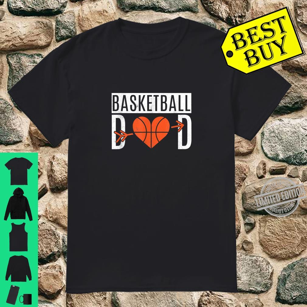 Basketball Dad Heart For Father's Day Basketball Dad Shirt