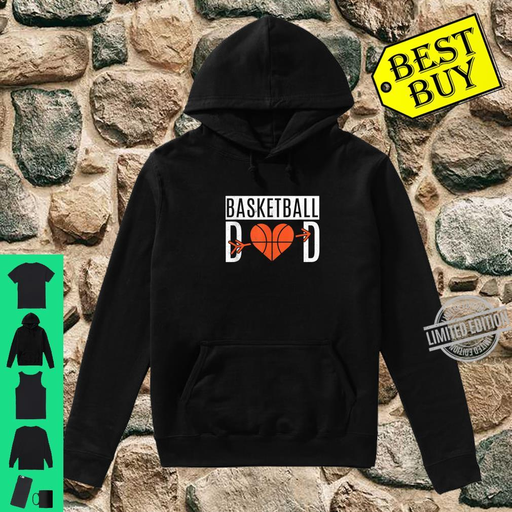 Basketball Dad Heart For Father's Day Basketball Dad Shirt hoodie