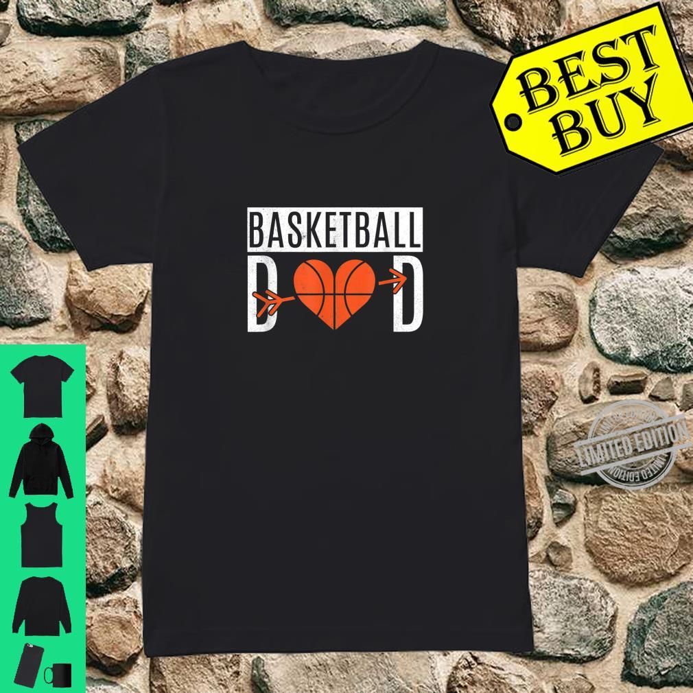 Basketball Dad Heart For Father's Day Basketball Dad Shirt ladies tee