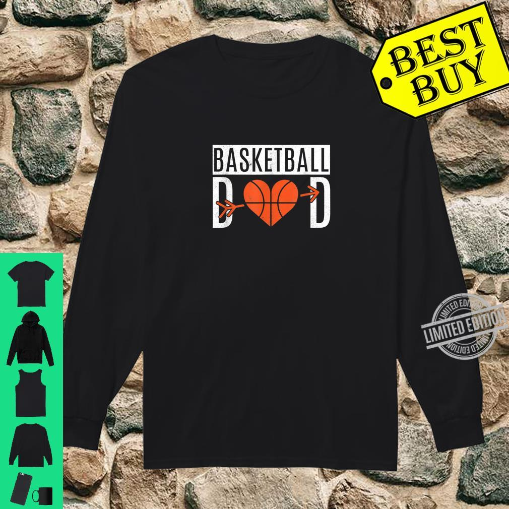 Basketball Dad Heart For Father's Day Basketball Dad Shirt long sleeved