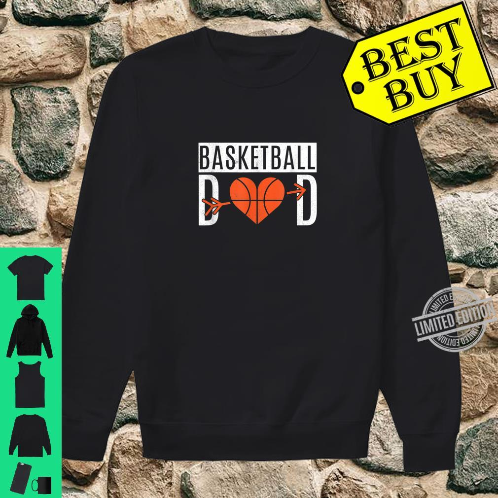 Basketball Dad Heart For Father's Day Basketball Dad Shirt sweater