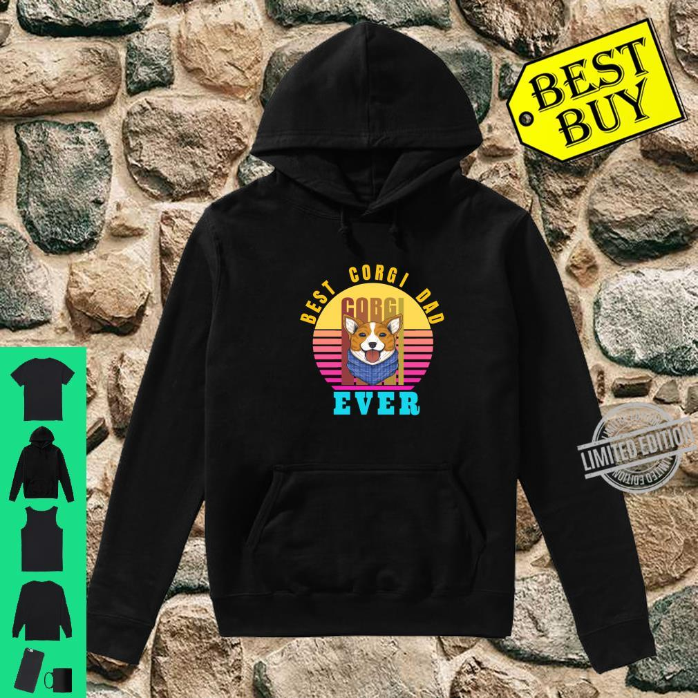 Best Corgi Dad Ever Typographic Dog Shirt hoodie