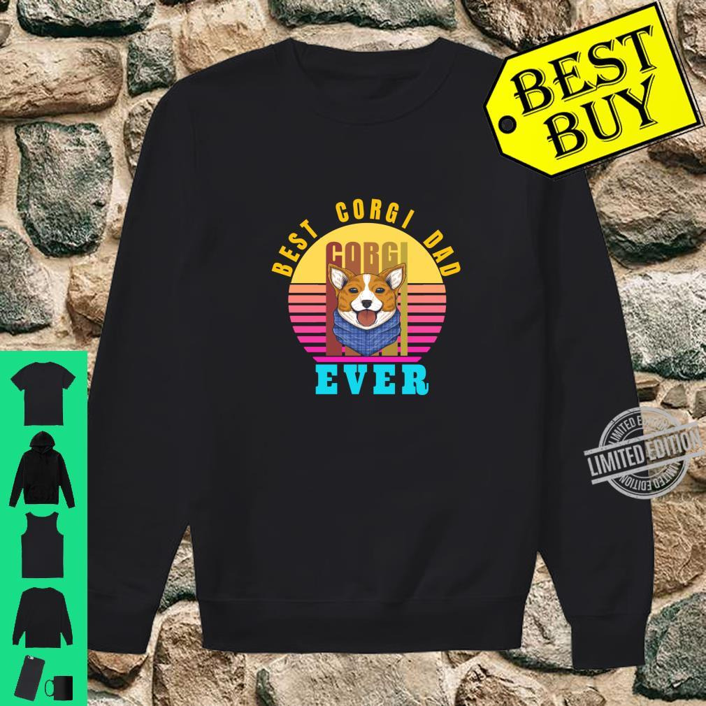 Best Corgi Dad Ever Typographic Dog Shirt sweater