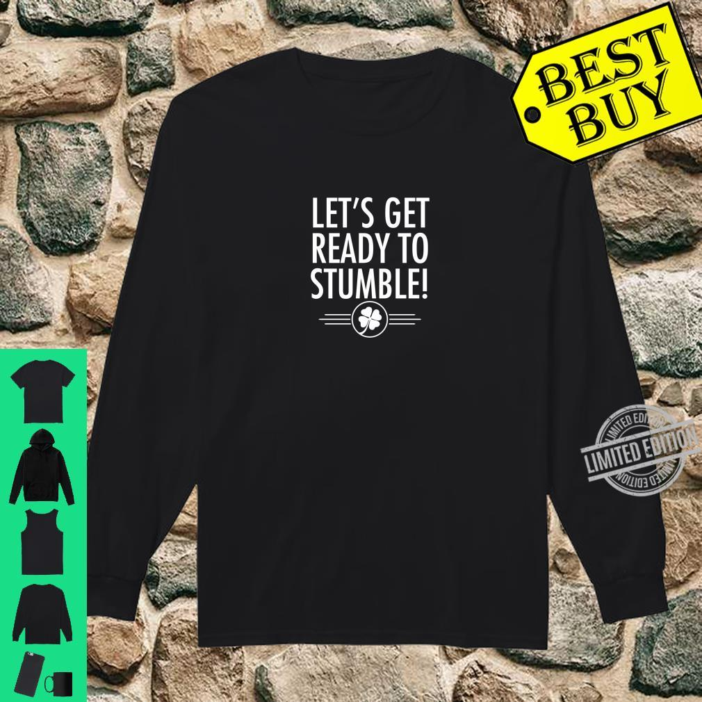 Best St. Patrick's Day Irish Beer Drinking Shirt long sleeved