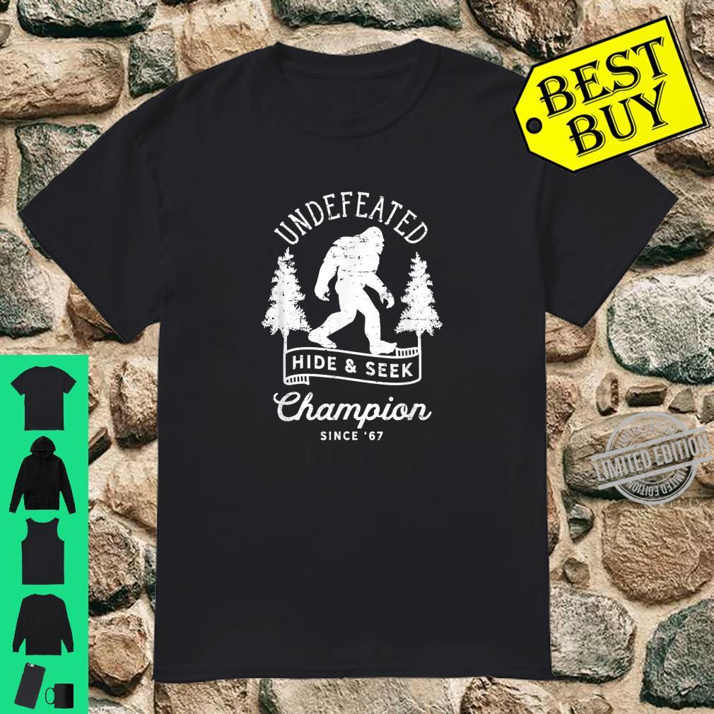 Bigfoot Undefeated Hide and Seek Champion Distressed Design Shirt