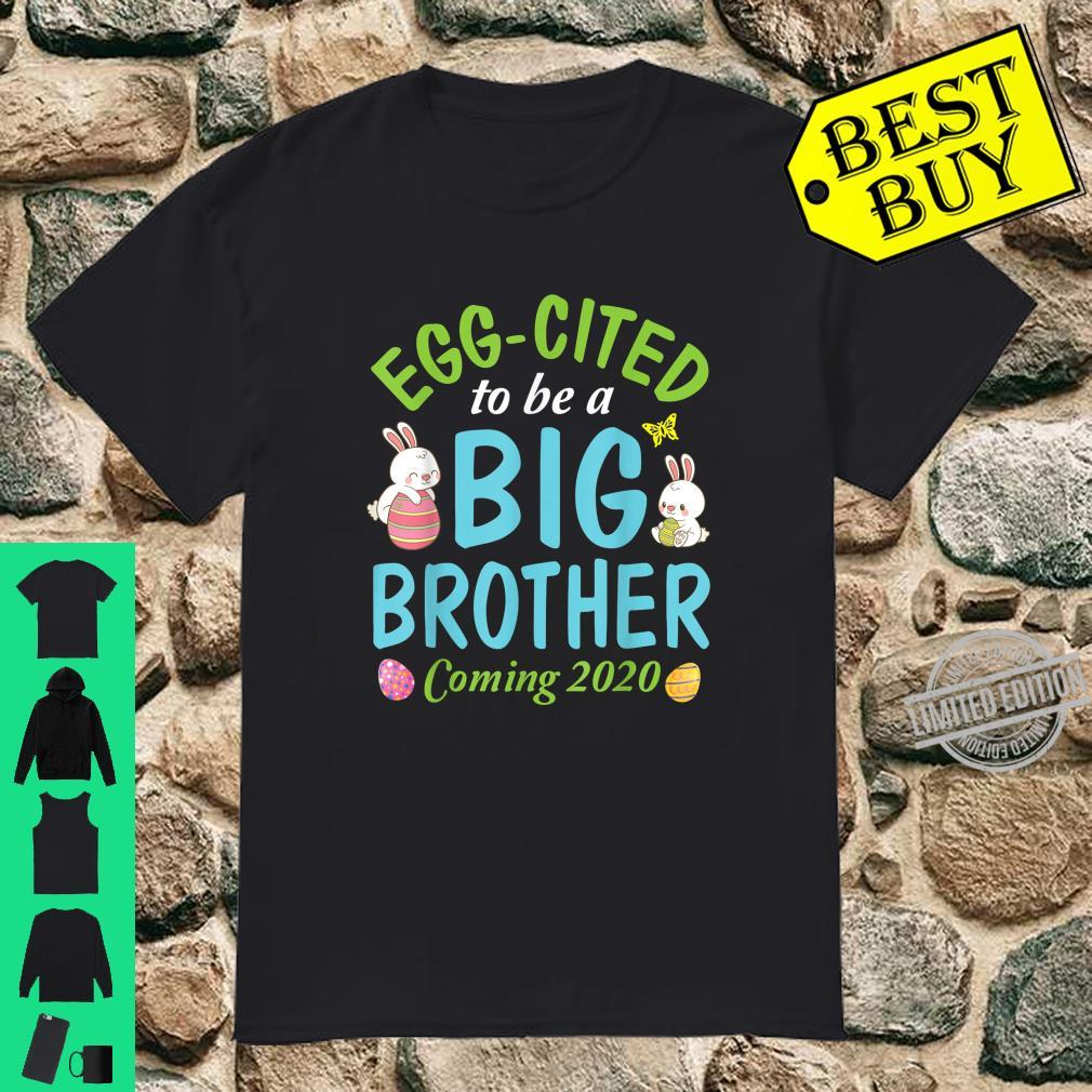 Bunny & Easter Eggs Eggcited To Be A Big Brother Coming 2020 Shirt