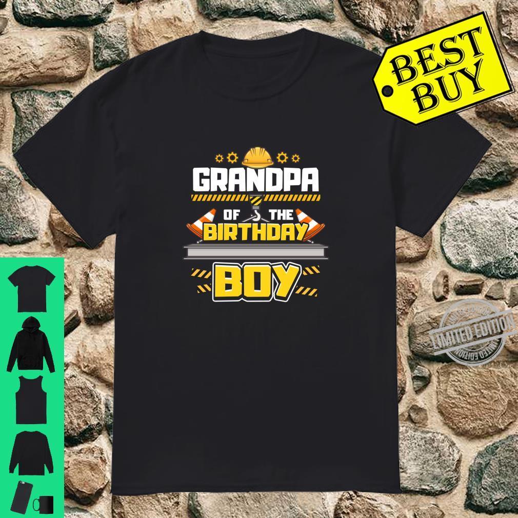 Construction Birthday Party Shirt Grandpa of Birthday Boy Shirt