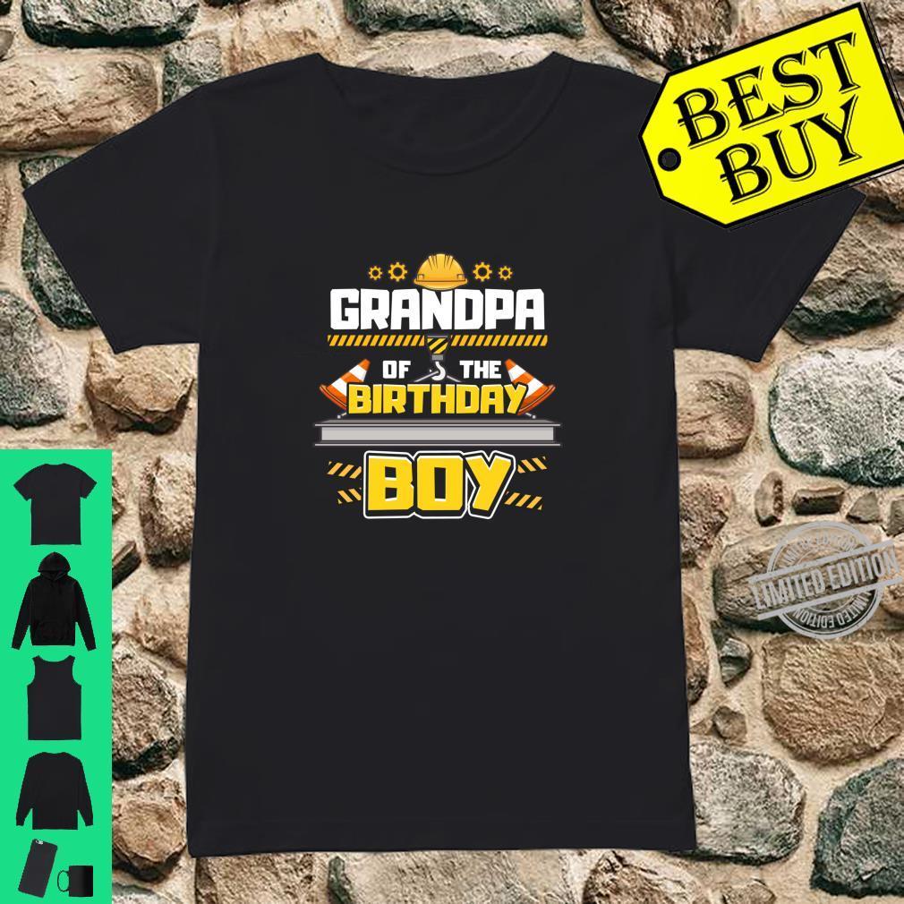 Construction Birthday Party Shirt Grandpa of Birthday Boy Shirt ladies tee
