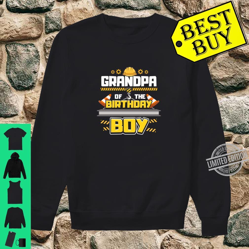 Construction Birthday Party Shirt Grandpa of Birthday Boy Shirt sweater