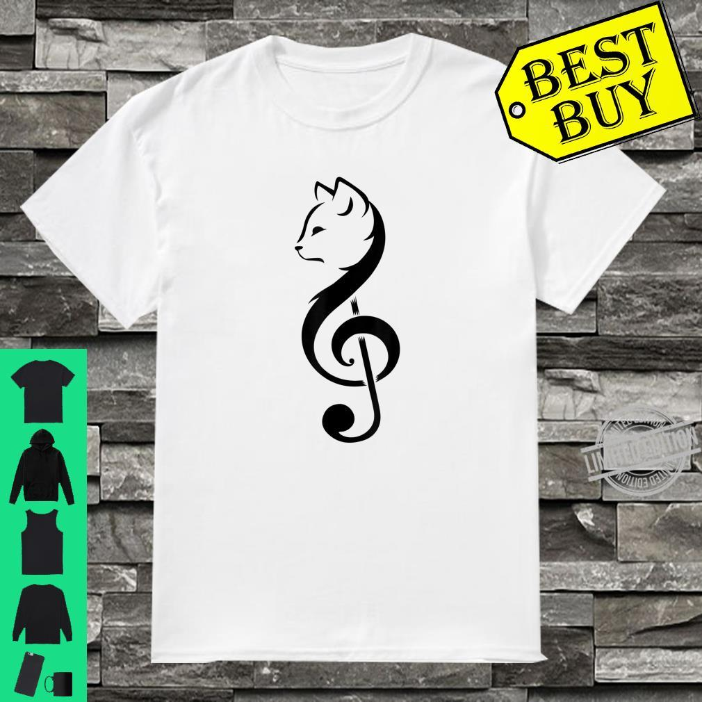 Cool Cat Treble Clef Music Kitty Notes Musician Shirt