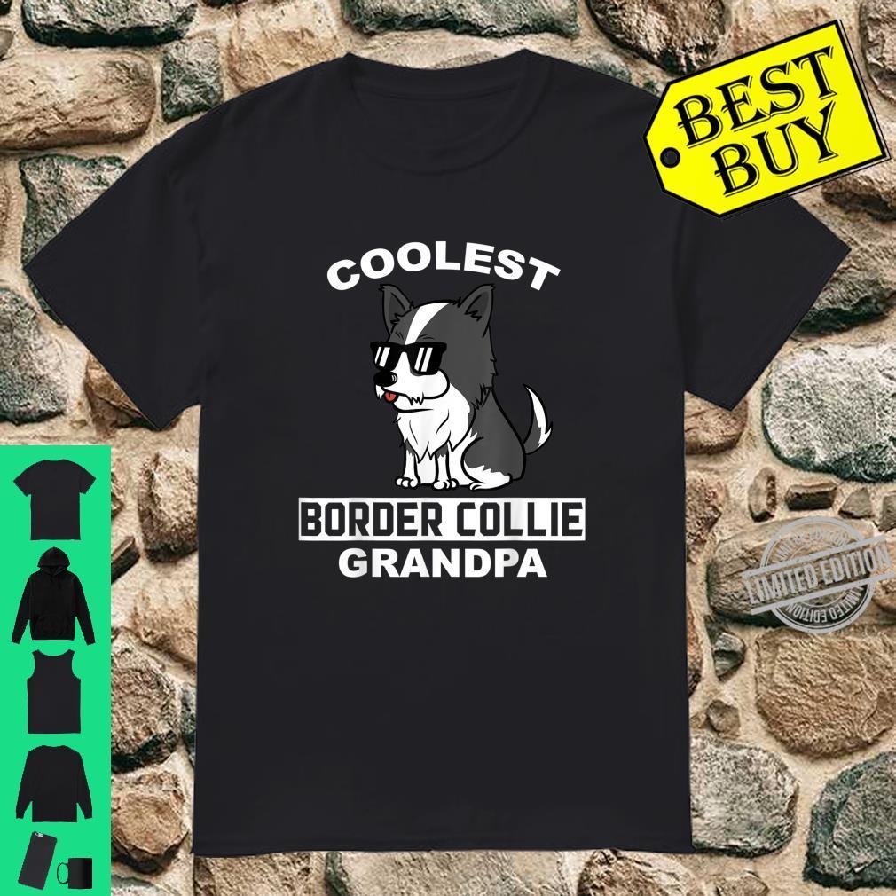 Coolest Border Collie Grandpa Dog Grandfather Shirt