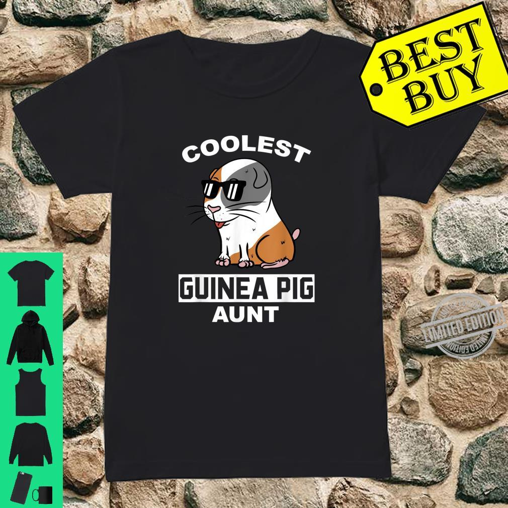Coolest Guinea Pig Aunt Pet Shirt ladies tee