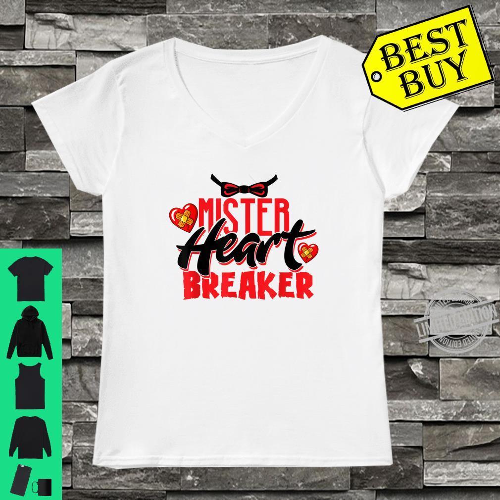 Cute Mister Heart Breaker Valentine's Day Toddler Boy & Girl Shirt ladies tee