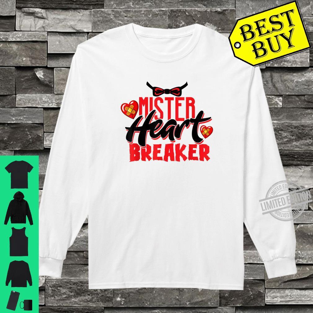 Cute Mister Heart Breaker Valentine's Day Toddler Boy & Girl Shirt long sleeved