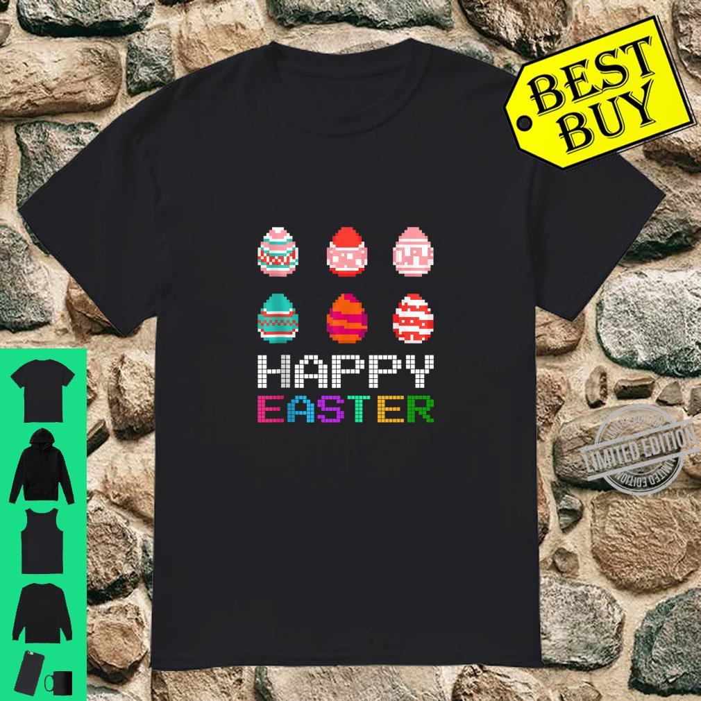 Cute Six Bunny Eggs Happy Easter Day Shirt