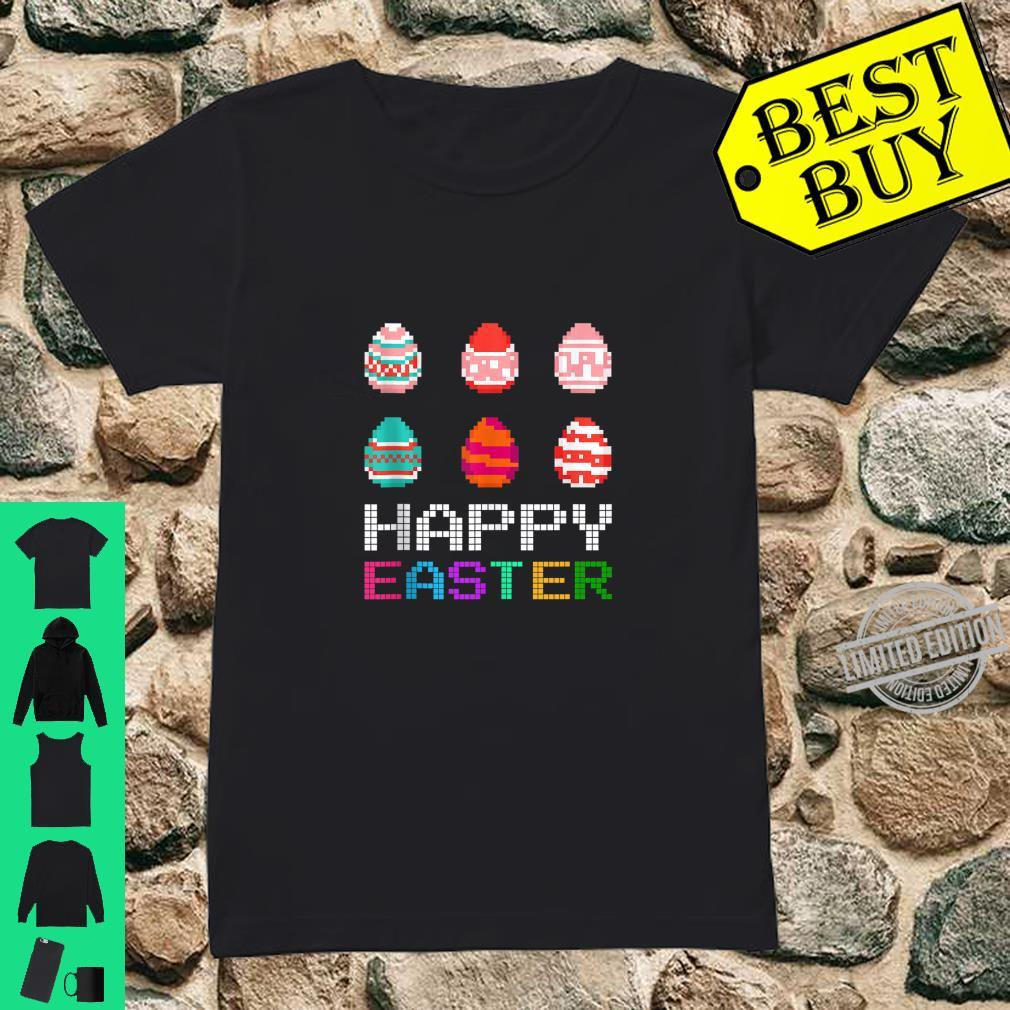 Cute Six Bunny Eggs Happy Easter Day Shirt ladies tee