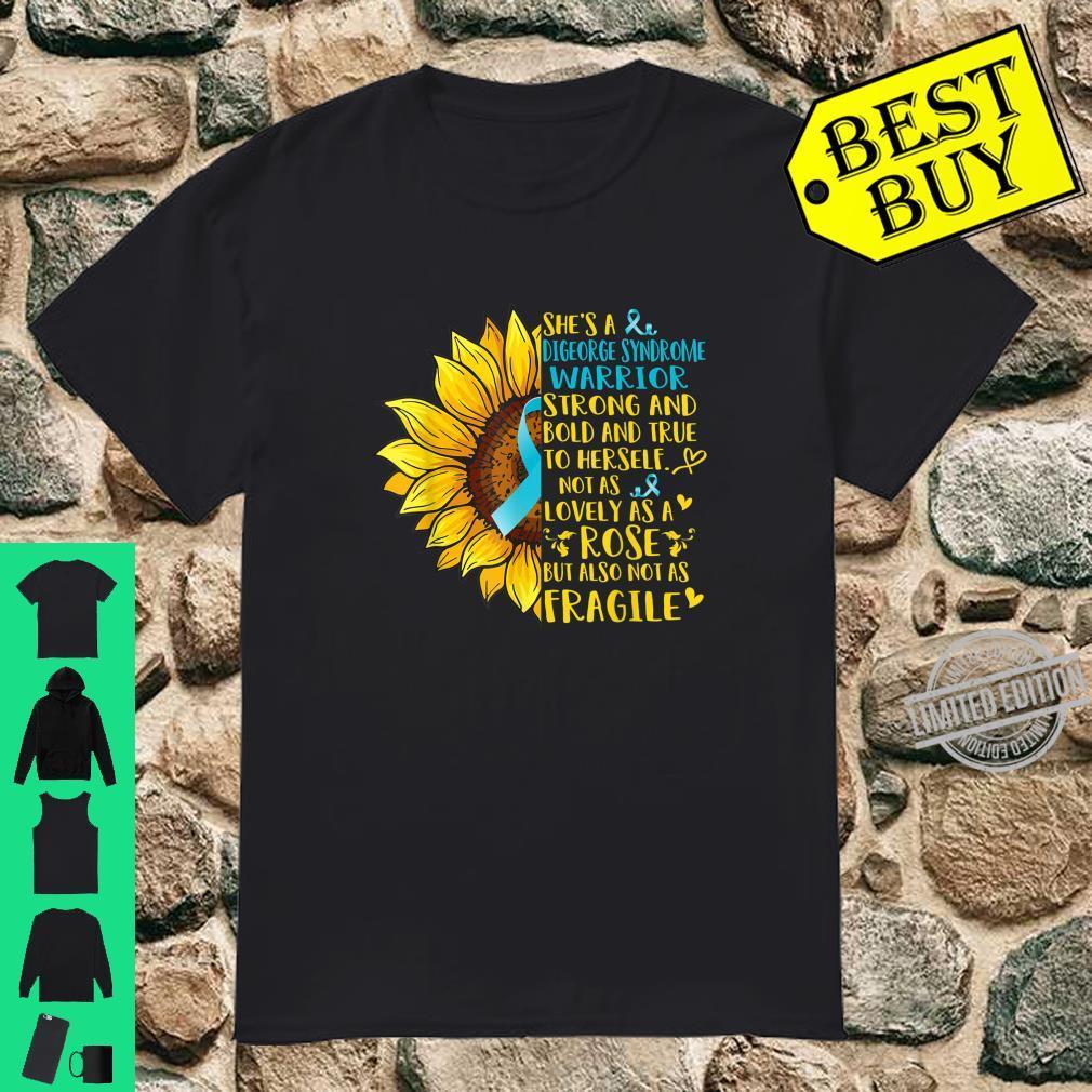 Digeorge Syndrome Warrior Sunflower Shirt