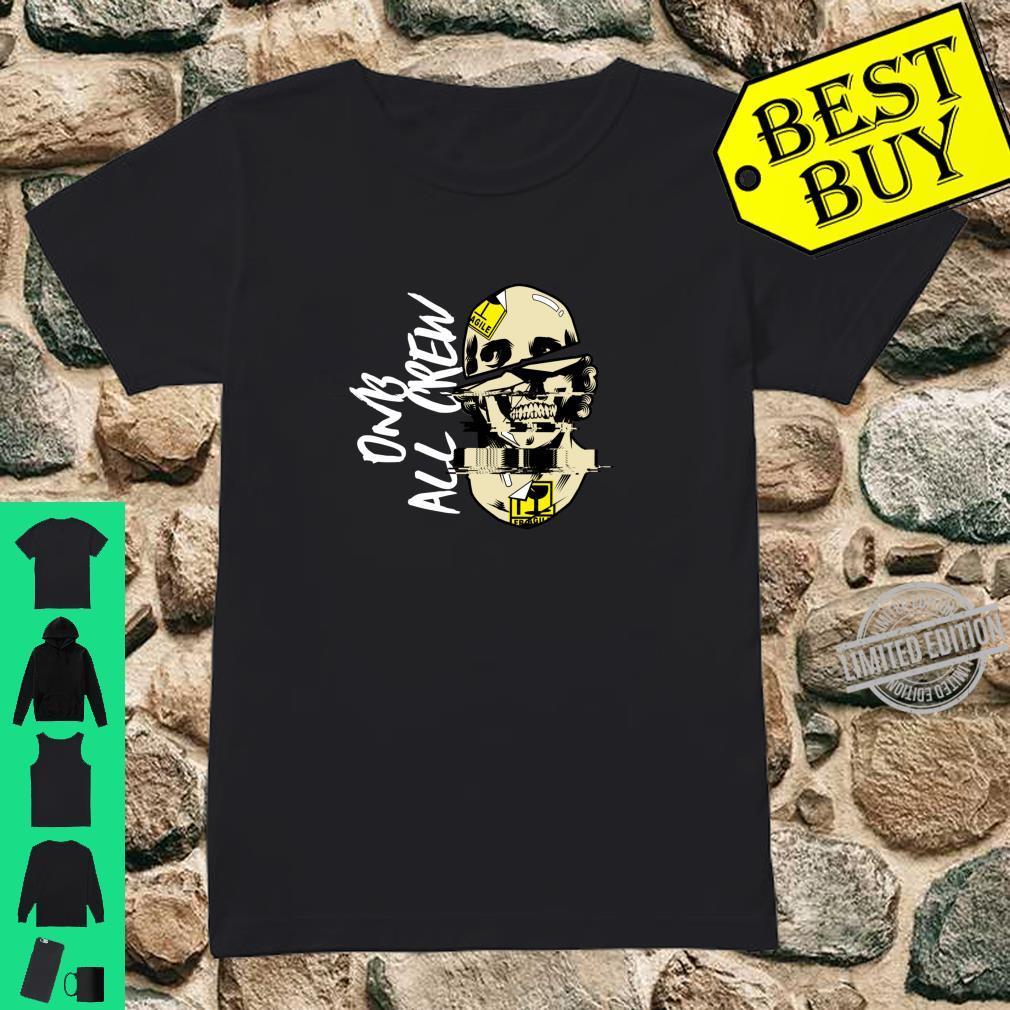 DnB Music Skull EDM Drum And Bass Shirt ladies tee