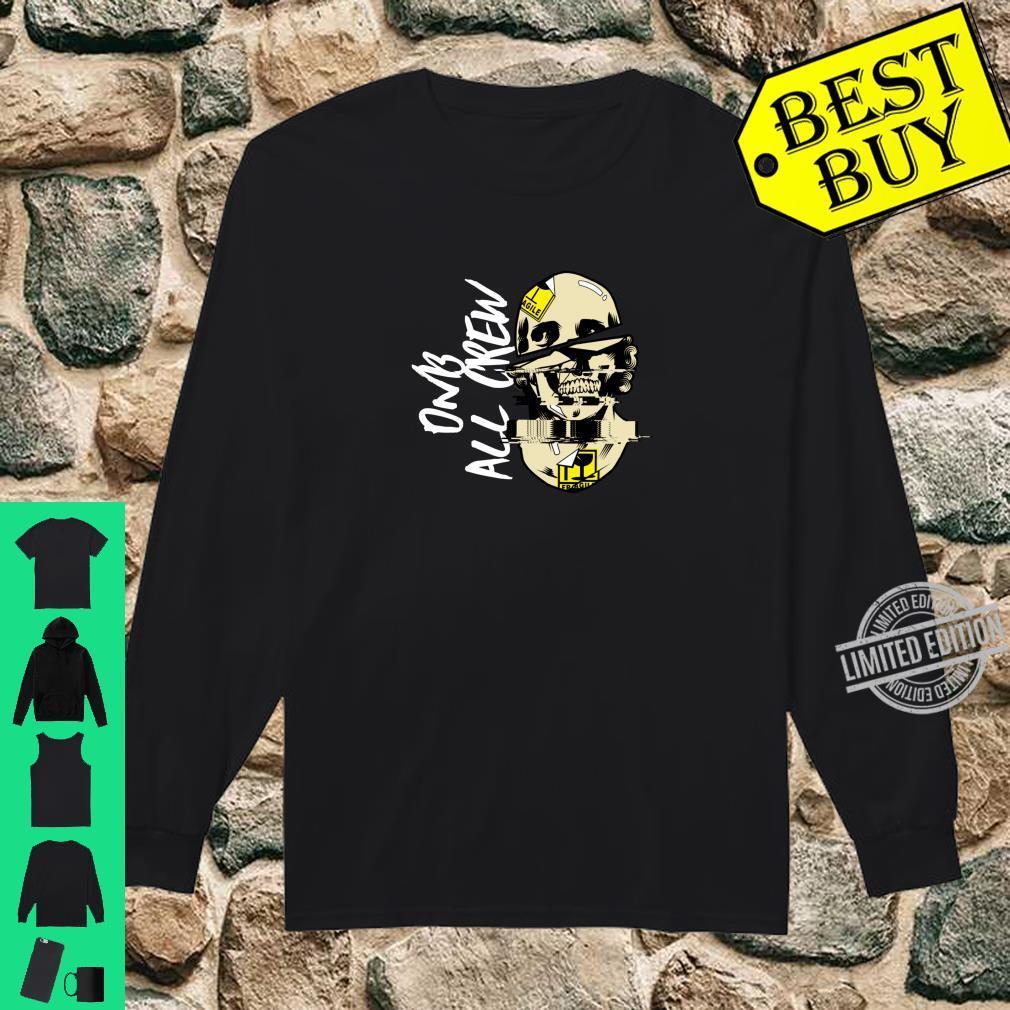 DnB Music Skull EDM Drum And Bass Shirt long sleeved