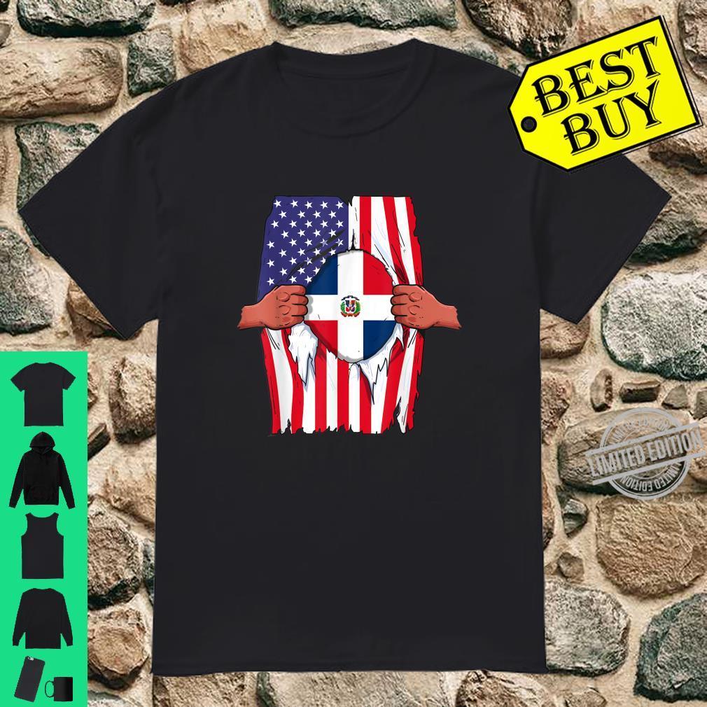 Dominican Republic Flag Inside Me Dominican American Shirt