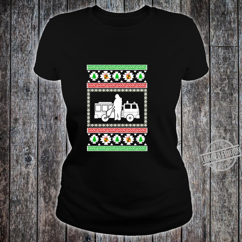 Firemen ugly christmas for firefighters Shirt ladies tee