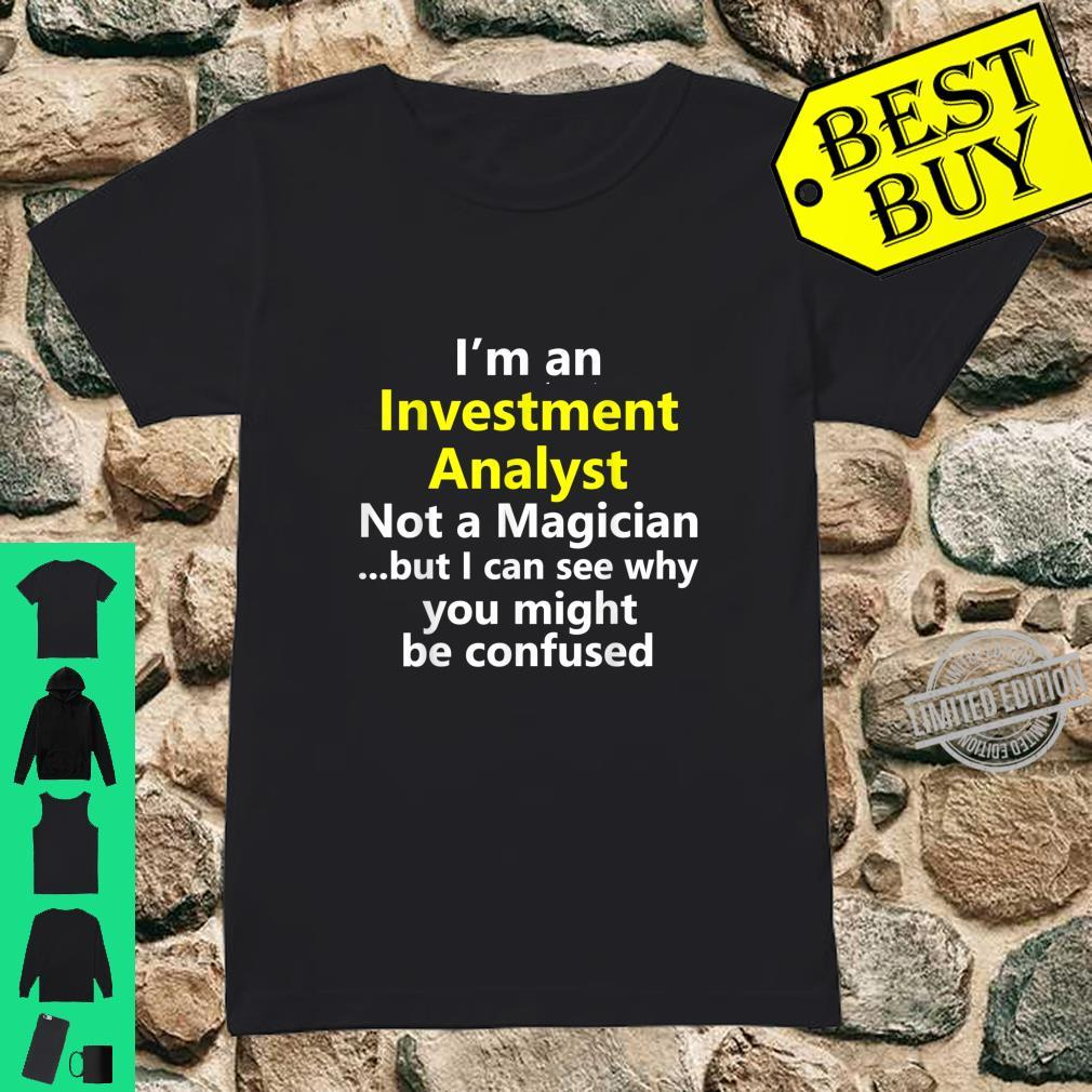 Funny Investment Analyst Job Career Occupation Profession Shirt ladies tee