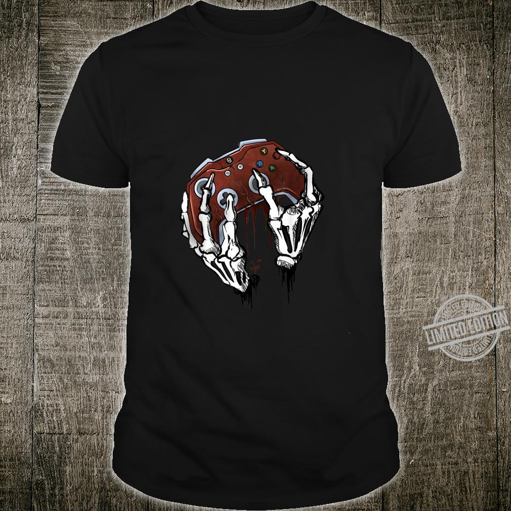 Funny Zombie Skull Video Gamer Gaming Boys Shirt