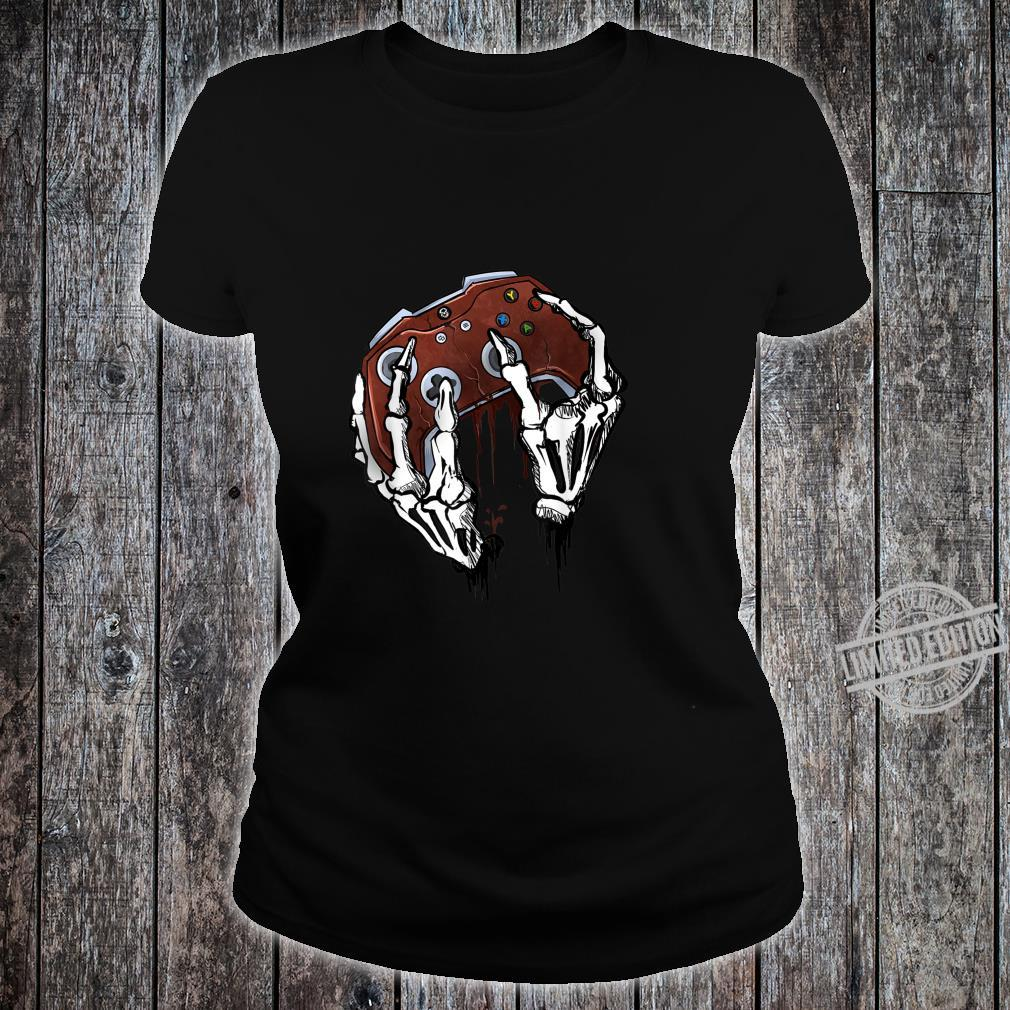 Funny Zombie Skull Video Gamer Gaming Boys Shirt ladies tee