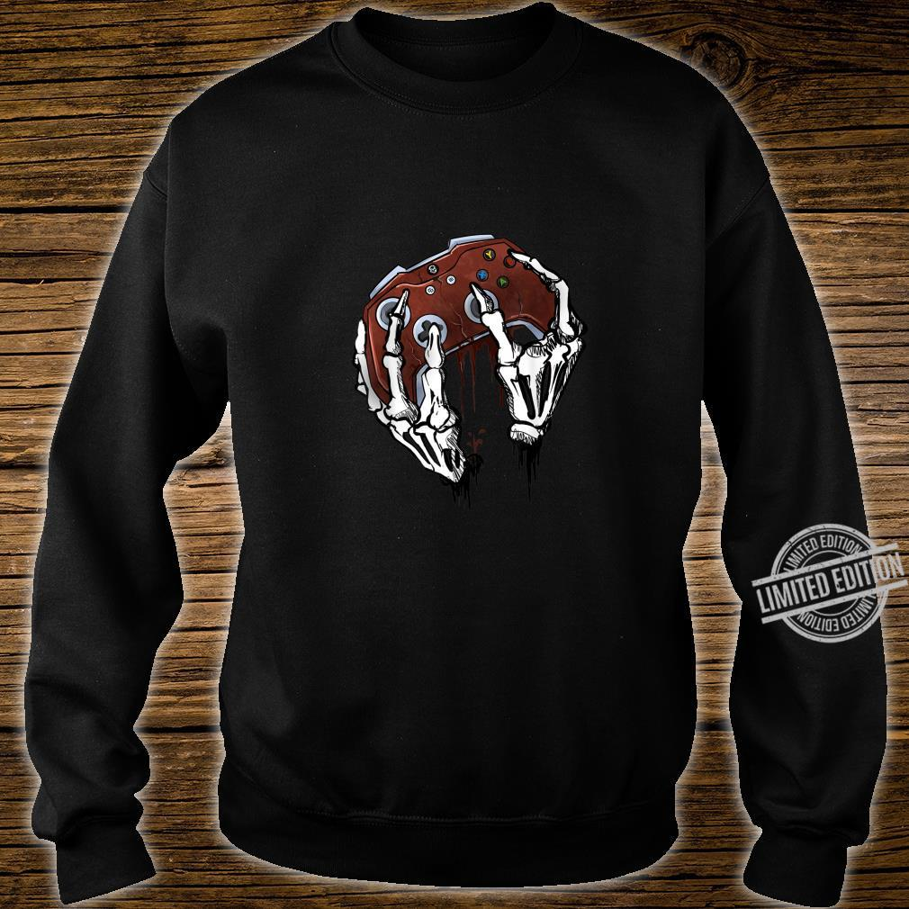 Funny Zombie Skull Video Gamer Gaming Boys Shirt sweater