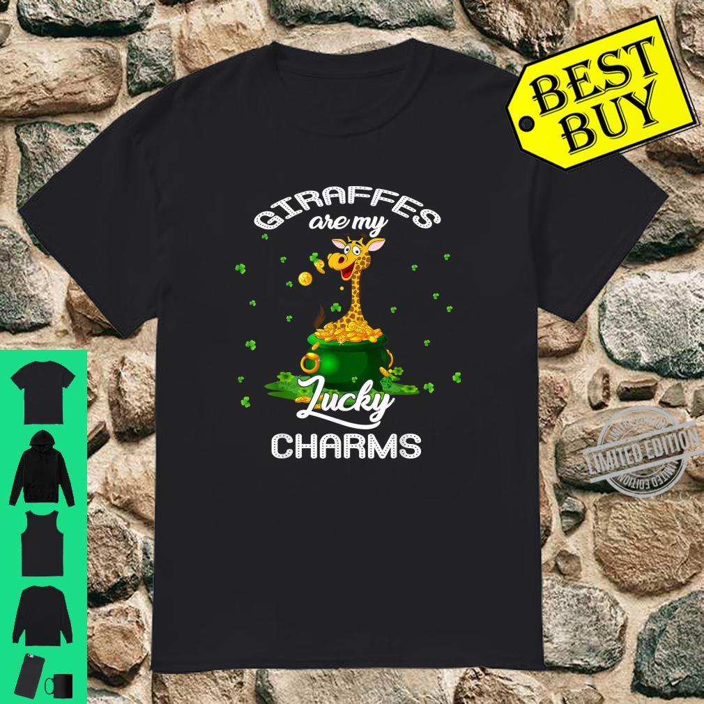Giraffes Are My Lucky Charms St Patricks Day Shirt