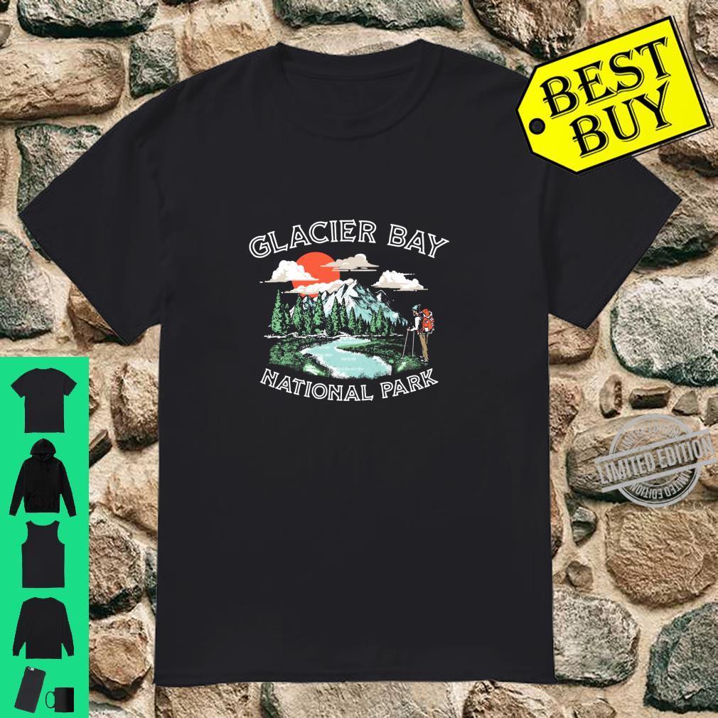 Glacier Bay National Park Vintage Alaska Hiker Retro Langarmshirt Shirt