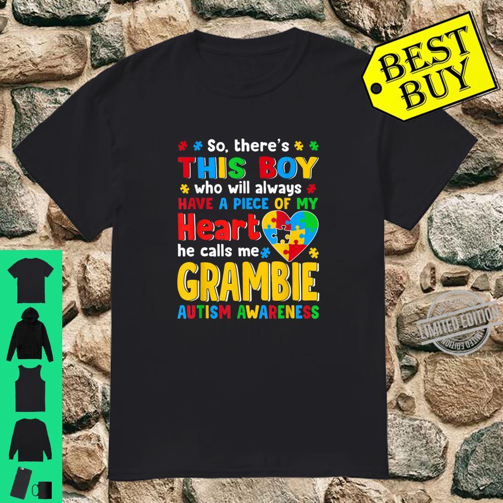 Grambie Saurus Autism Awareness Shirt