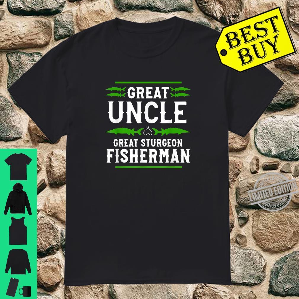 Great Sturgeon Fisherman Sturgeon Fishing Uncle Shirt
