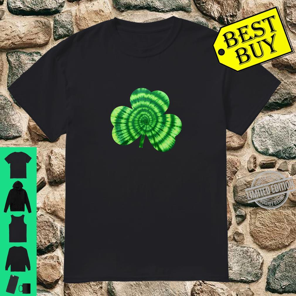 Green Tie Dye Shamrock Irish Hippie St Patricks Day Shirt