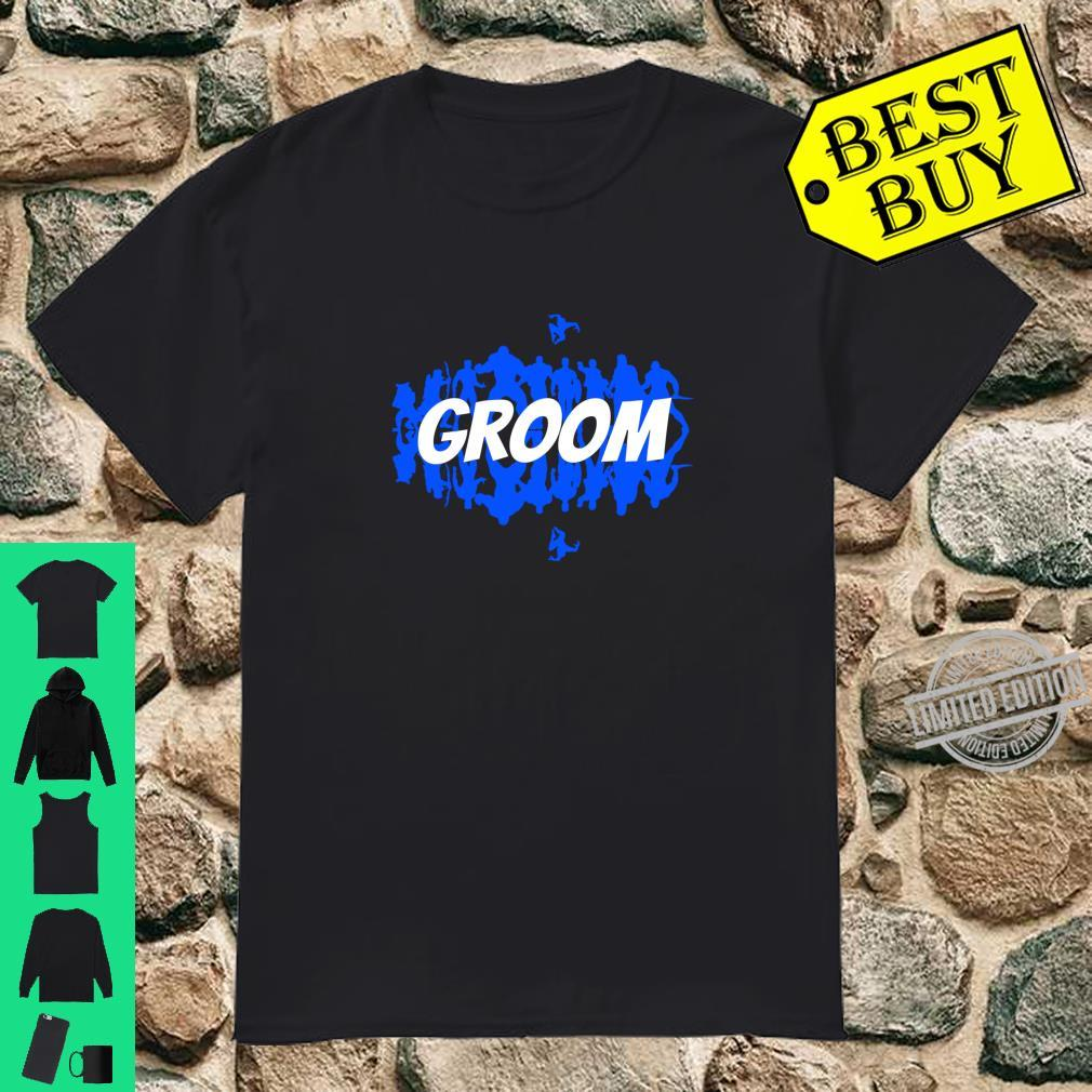 Groom, Wedding Party Group. Matching Comic Book Themed Shirt