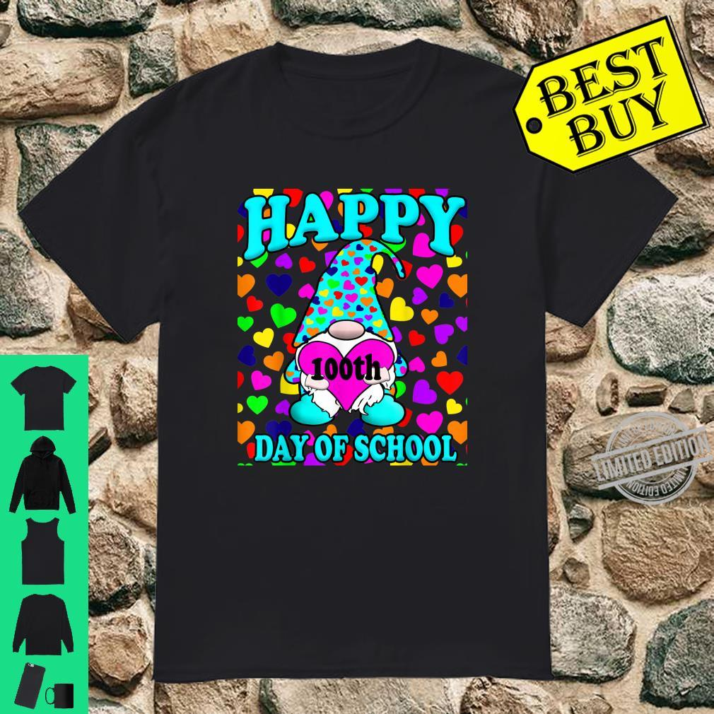 Happy 100th Day Of School Gnome Hearts Shirt