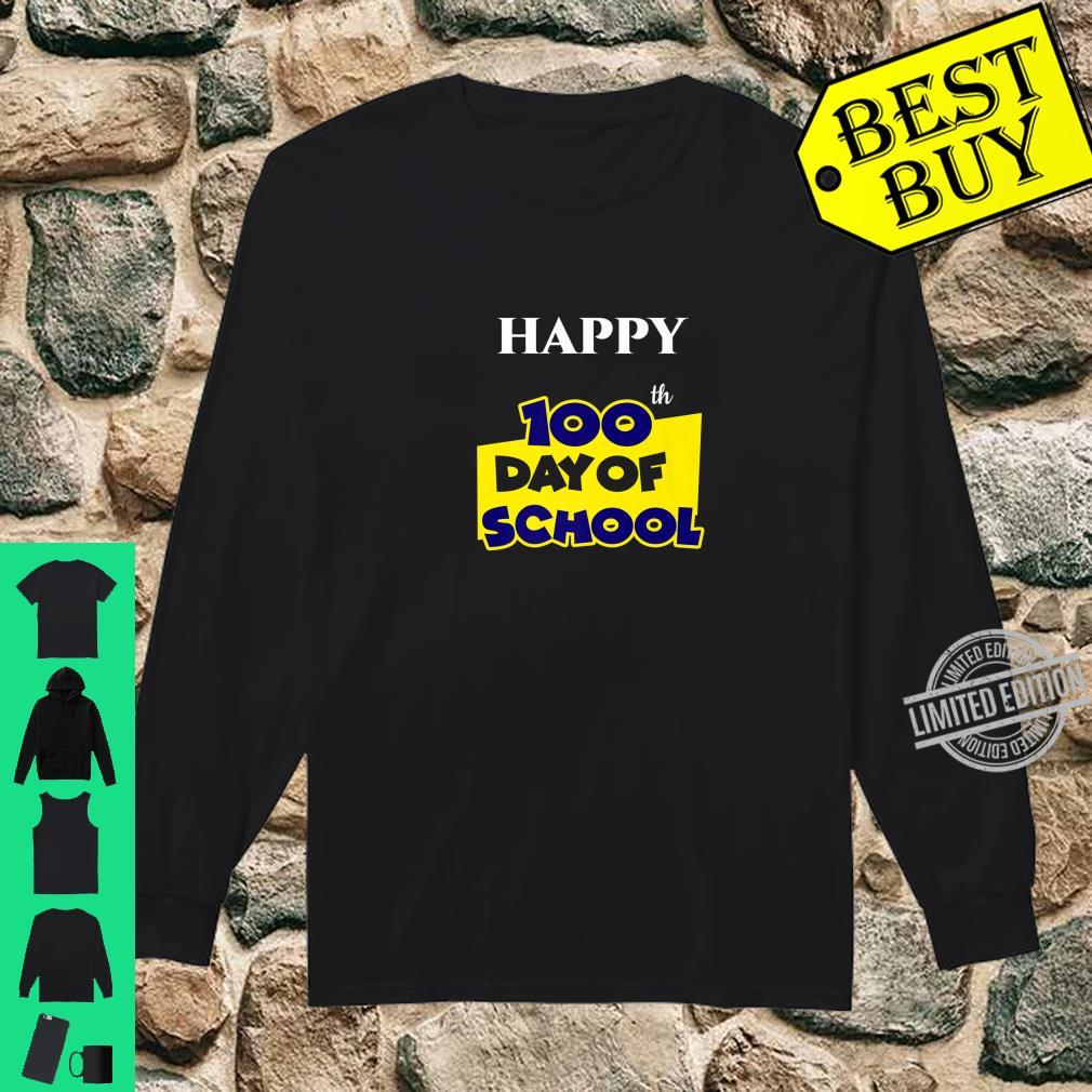 Happy 100th Day of School for Teacher or Child Shirt long sleeved
