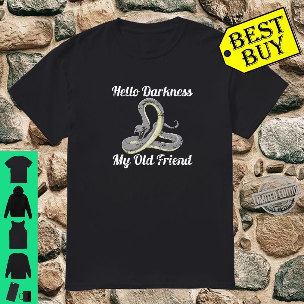 Hello Darkness My Old Friend Scary Black Snake Novelty Shirt