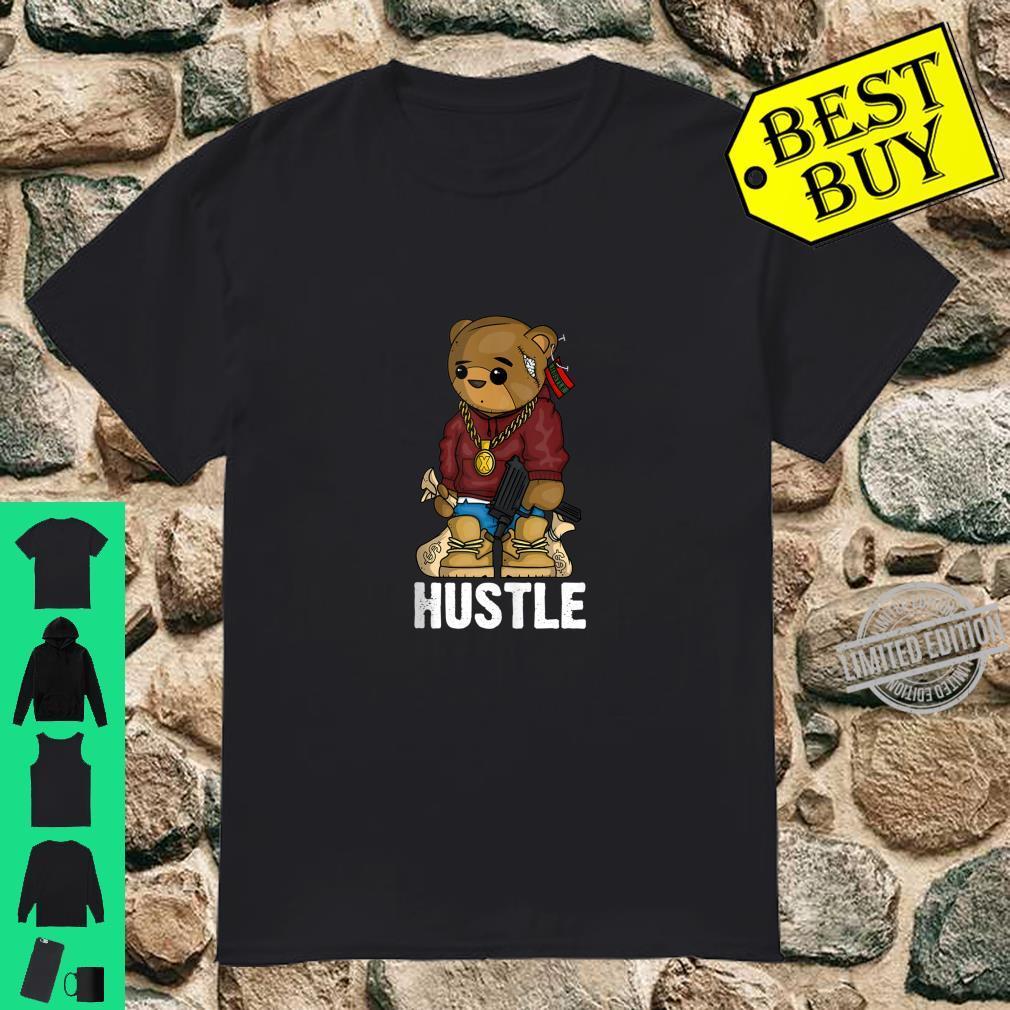 Hip Hop Teddy Bear Hustle Gun Get Money Rap Music Shirt