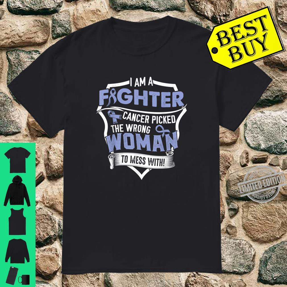 I Am a Fighter Esophageal Cancer Awareness Support Ribbon Shirt