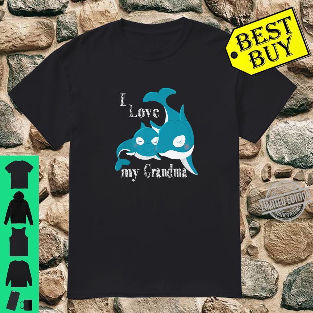 I Love My Grandma, Baby Whale Family Love Shirt