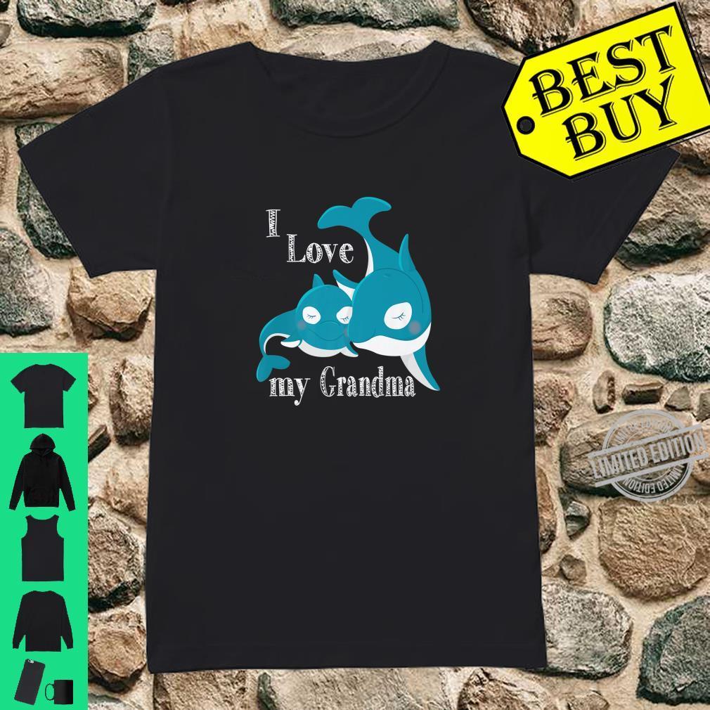 I Love My Grandma, Baby Whale Family Love Shirt ladies tee