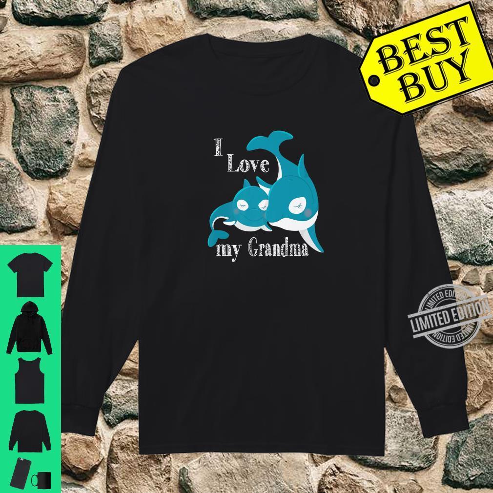 I Love My Grandma, Baby Whale Family Love Shirt long sleeved