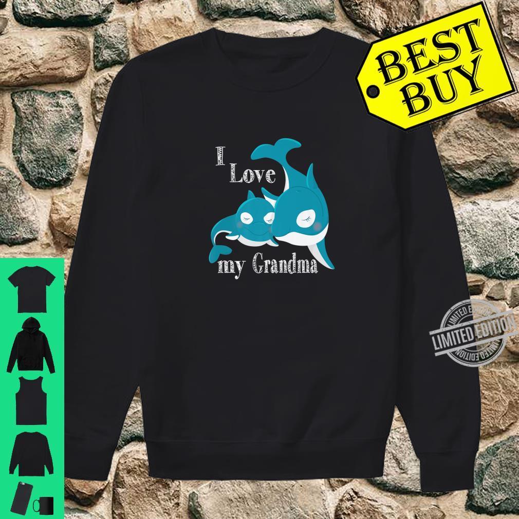 I Love My Grandma, Baby Whale Family Love Shirt sweater